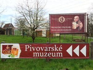 Het biermuseum van het plaatselijke biermerk Opat
